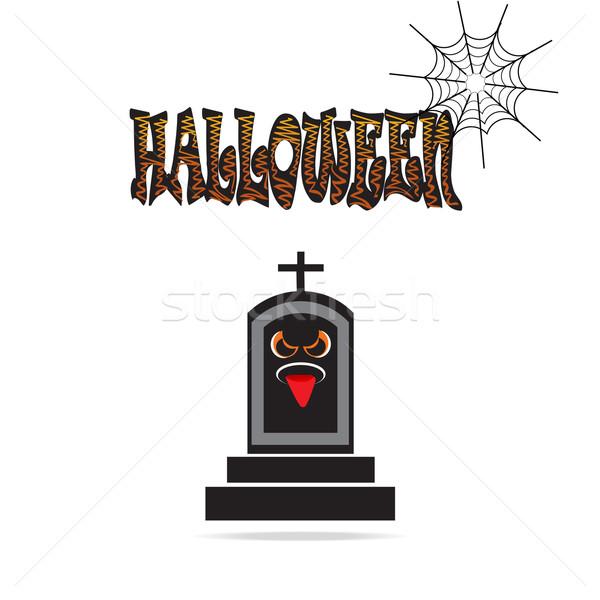 Grave for Halloween symbol illustration Stock photo © Kheat