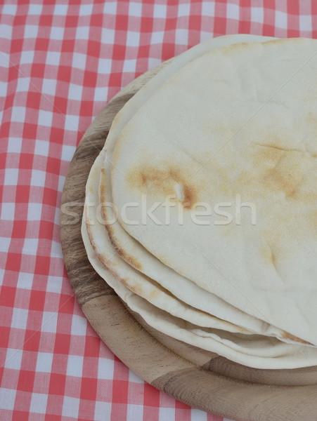 Köteg pita kenyér fából készült étel konyha Stock fotó © Kheat