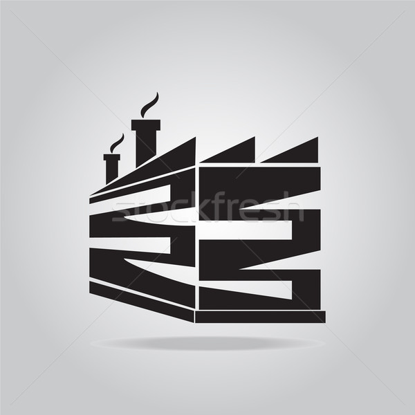 Industrial building factory icon Stock photo © Kheat