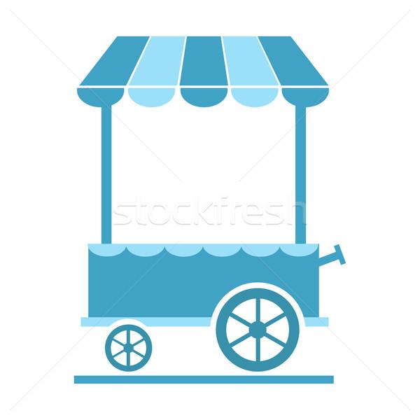 Market cart icon vector illustration Stock photo © Kheat