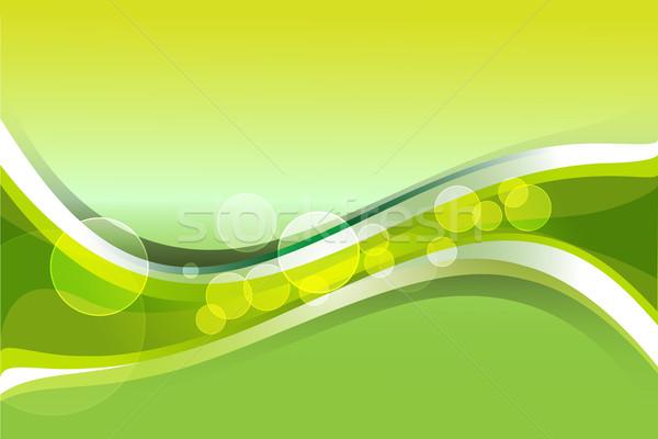 Zöld citromsárga gradiens hullámos vonalak absztrakt Stock fotó © Kheat