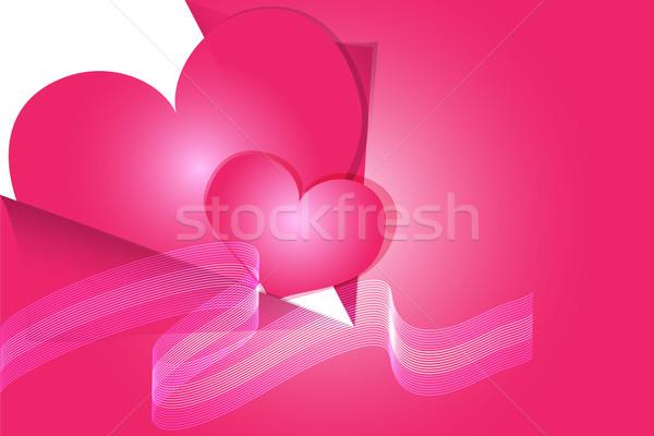 バレンタインデー 中心 実例 抽象的な ベクトル 紙 ストックフォト © Kheat