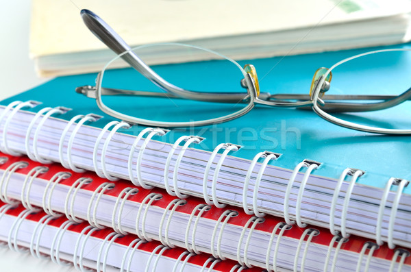 Stock photo: notebook with glasses
