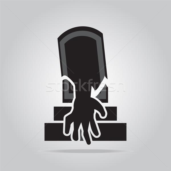 Graf hand halloween symbool illustratie kunst Stockfoto © Kheat