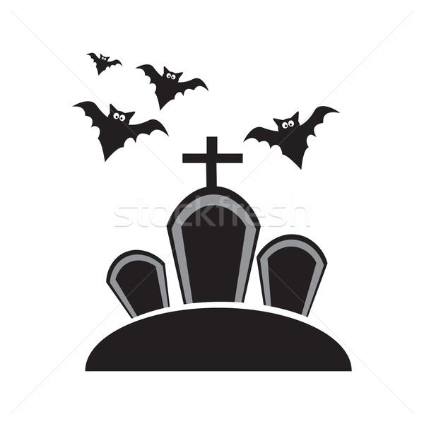 Mezar halloween simge örnek sanat web Stok fotoğraf © Kheat