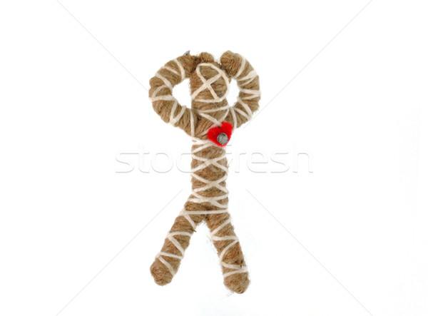 Touw pop geïsoleerd witte teken dode Stockfoto © Kheat