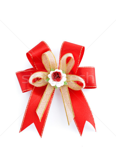 Christmas red bow isolated on white Stock photo © Kheat