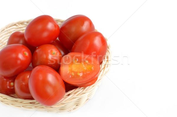 Tomatos in basket Stock photo © Kheat