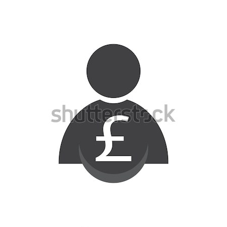 man with money icon Stock photo © Kheat