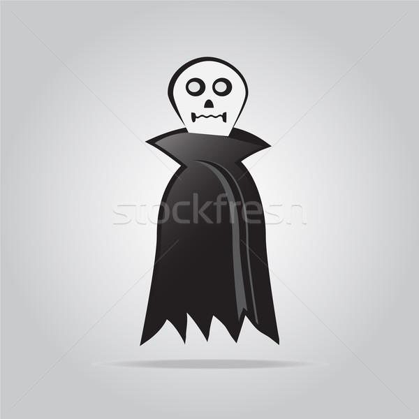 Fantasma halloween símbolo mão assinar teia Foto stock © Kheat