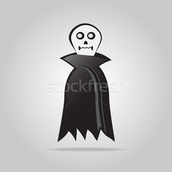 Fantasma halloween símbolo mano signo web Foto stock © Kheat