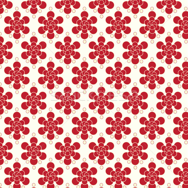Red flowers pattern vector background Stock photo © Kheat