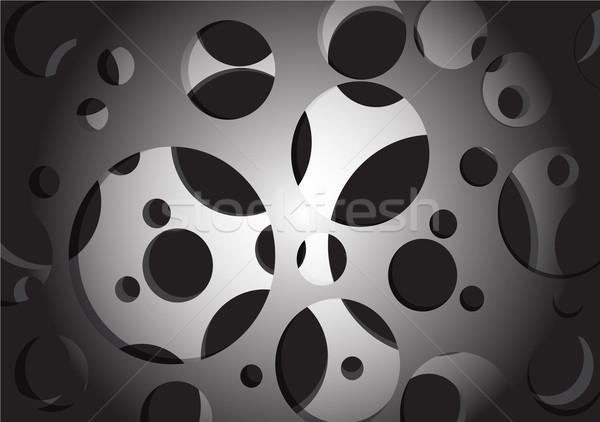 モノクロ 幾何学的な 抽象的な テクスチャ 金属 芸術 ストックフォト © Kheat