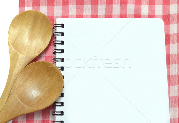 notebook and spoon Stock photo © Kheat