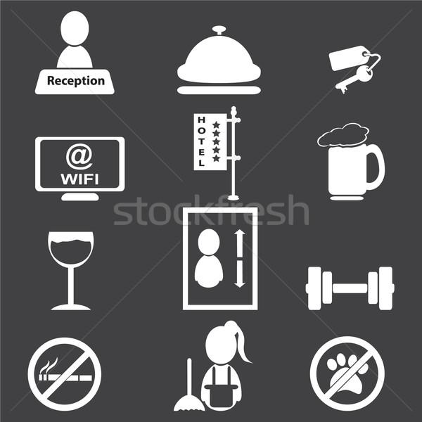 Hotel, miscellaneous icons Stock photo © Kheat