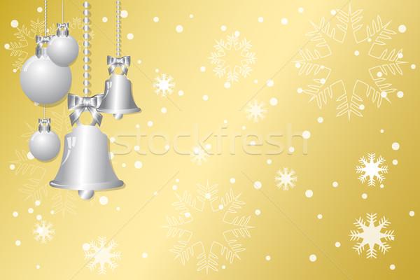 Karácsony arany absztrakt hó művészet kék Stock fotó © Kheat