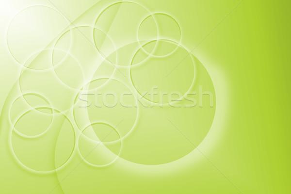 Zöld absztrakt kör retro klasszikus citromsárga Stock fotó © Kheat