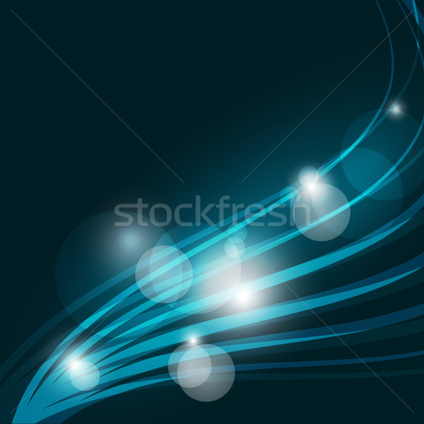 Abstract Blue Background with Wavy Lines. Stock photo © Kheat