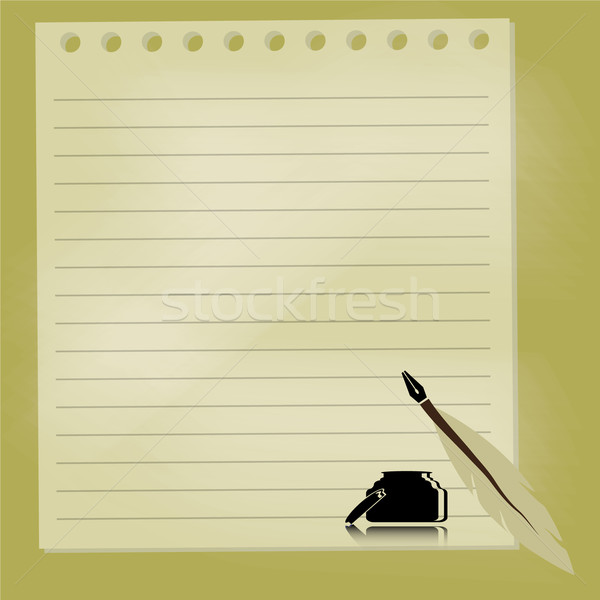 quill pen with chalkboard background Stock photo © Kheat