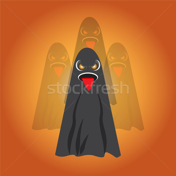 Fantasmas vetor halloween arte teia Foto stock © Kheat
