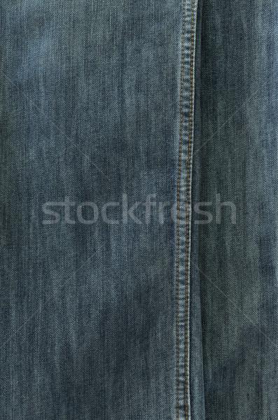 Jeans textuur achtergrond texturen Blauw zwarte Stockfoto © Kheat