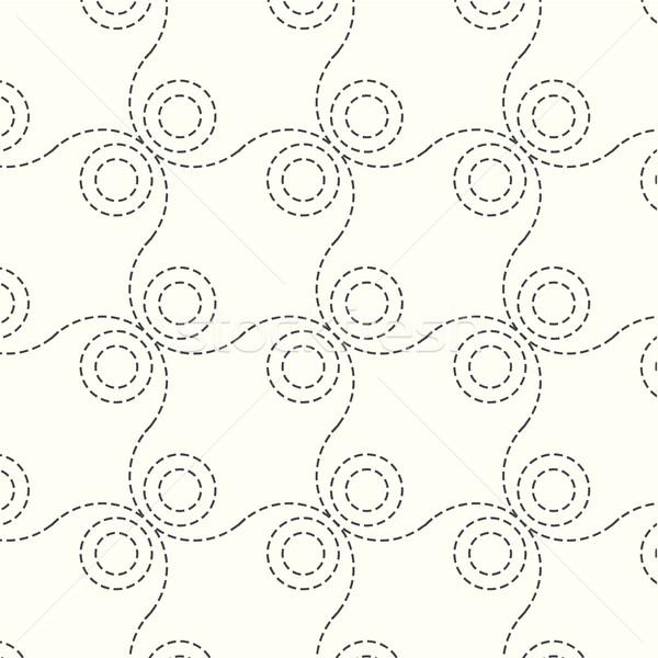 シームレス ベクトル パターン サークル テクスチャ 波 ストックフォト © Kheat
