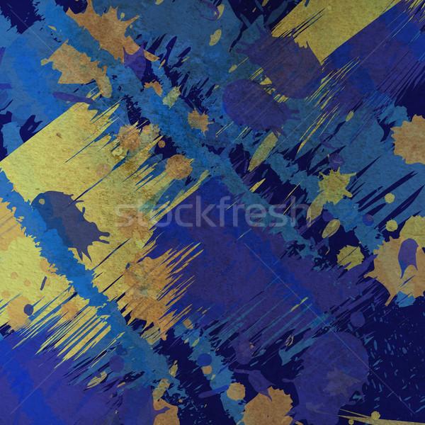 Absztrakt csobbanás szín grunge beton textúra Stock fotó © Kheat
