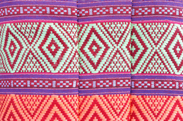 Thai style native textile on fabric Stock photo © Kheat