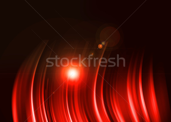 Red aura light abstract on black background Stock photo © Kheat