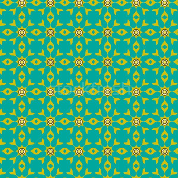 Sem costura geométrico azulejos padrão abstrato projeto Foto stock © Kheat