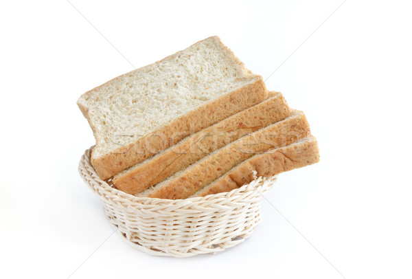 whole wheat bread in basket Stock photo © Kheat