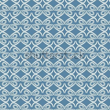 Abstrato vetor azul padrão flor Foto stock © Kheat