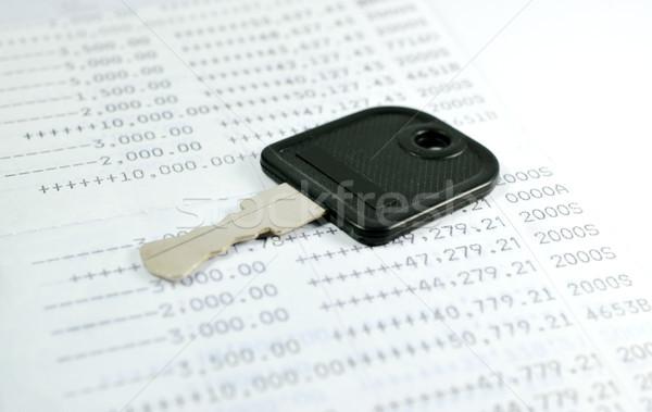 Clave cuenta negocios libro banco negro Foto stock © Kheat