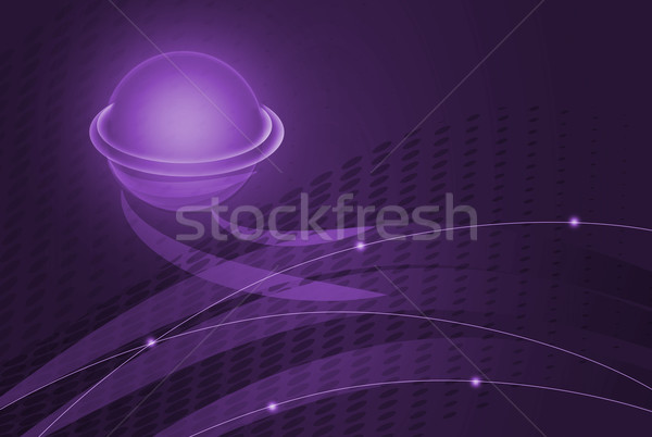 Abstract wavy and lines purple background Stock photo © Kheat