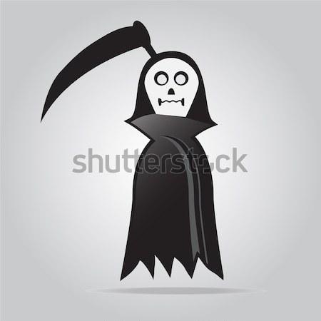 Szellemek vektor halloween illusztráció lámpás díszít Stock fotó © Kheat