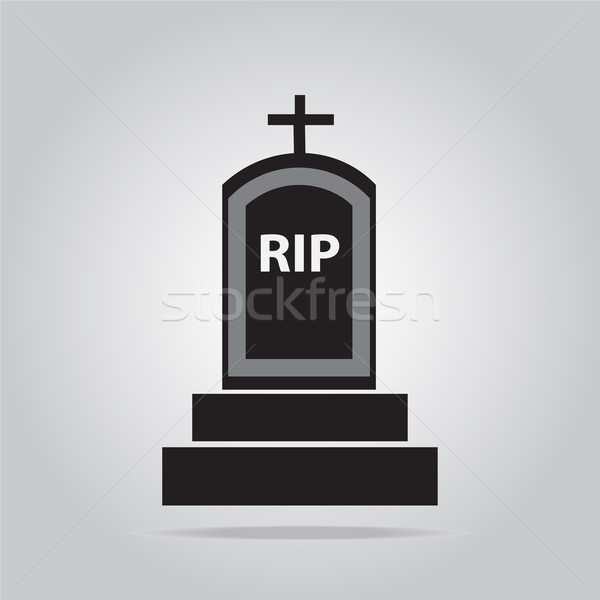 Grave for Halloween symbol, vector illustration Stock photo © Kheat