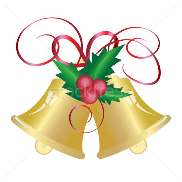 Karácsony harang szimbólum tél labda piros Stock fotó © Kheat
