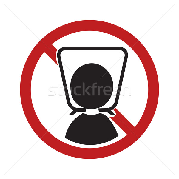 Warning sign with plastic bag. Stock photo © Kheat