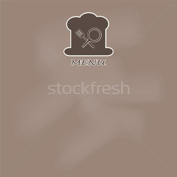 меню страница дизайна приготовления книга иллюстрация Сток-фото © Kheat