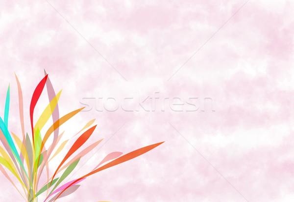 Rosa pintura escove abstrato macio flor Foto stock © Kheat