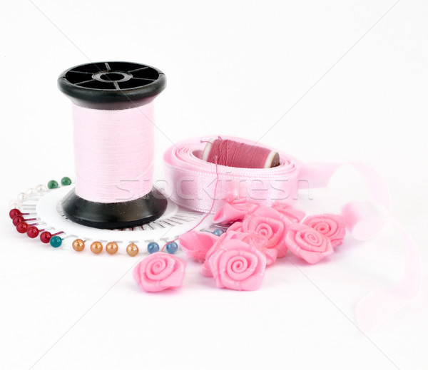 Sewing pink accessories Stock photo © Kheat