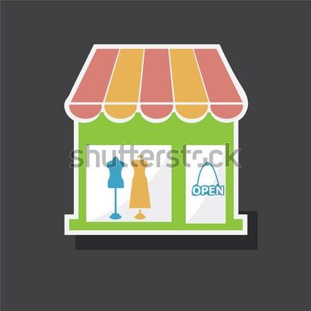 Boutique compras ícone restaurante preto silhueta Foto stock © Kheat