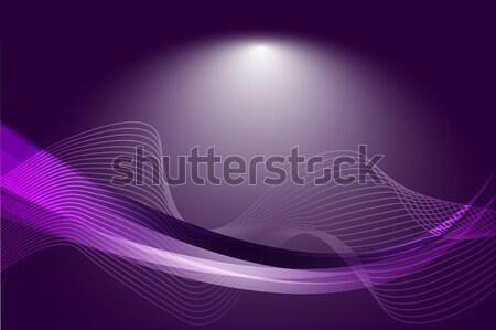Abstract viola curva linee gradiente vettore Foto d'archivio © Kheat