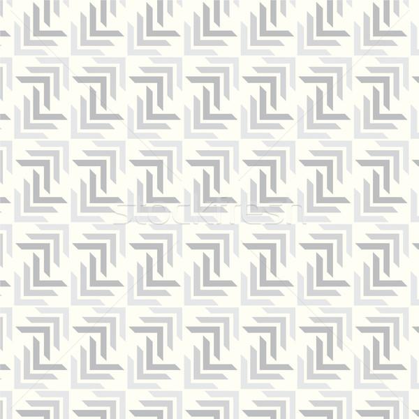 ベクトル シームレス グレー パターン 幾何学的な 抽象的な ストックフォト © Kheat