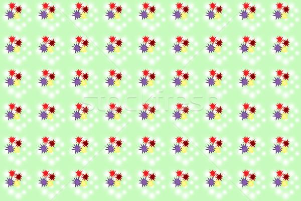 Sem costura cor padrão verde textura arte Foto stock © Kheat