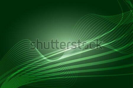 Absztrakt zöld örvény vektor hullámos vonalak Stock fotó © Kheat