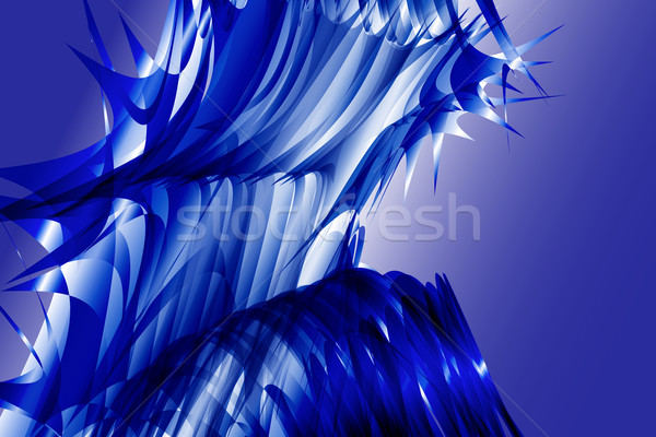 Azul salpico linhas abstrato vetor textura Foto stock © Kheat