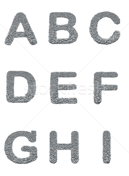 Foto stock: Alfabeto · pedra · textura · branco · rocha · documento