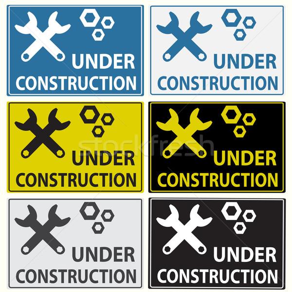 Under construction sign Stock photo © Kheat