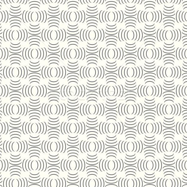 Vetor geométrico monocromático abstrato projeto Foto stock © Kheat
